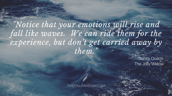 Processing Grief vs. Drowning In It - The Jolly Widow